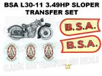 BSA L30-11 349cc 1930 Transfer Decal Set